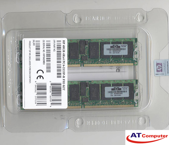 RAM HP 48GB DDR4-2133MHz PC4-17000 (1x16GB+1x32GB) CL15 FIO Kit ECC . Part: 792278-B21