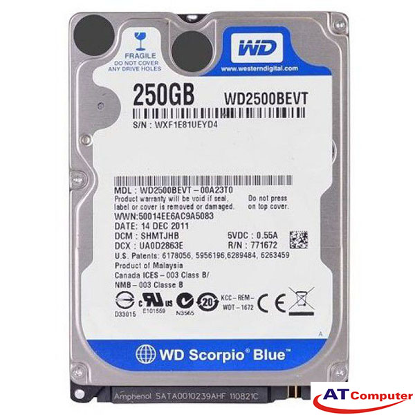 HDD WESTERN 250GB SATA 5400RPM, 8Mb Cache 2.5''