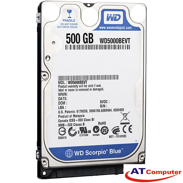 HDD WESTERN 500GB SATA 7200RPM, 32Mb Cache 2.5''