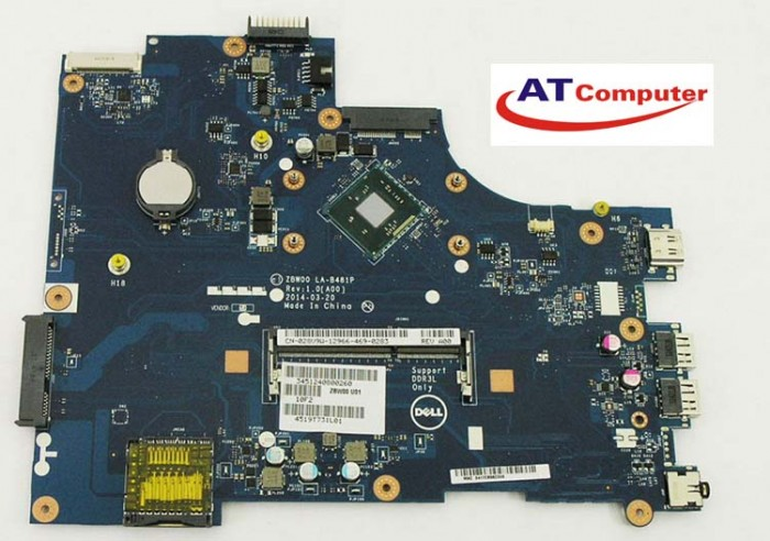 MAINBOARD DELL 3531, Celeron, VGA share. Part: N3530, LA-B481P, Y3PXH
