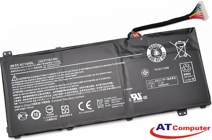 PIN ACER Aspire V15, V17, 6Cell, Oem, Part: AC14A8L, LAC240