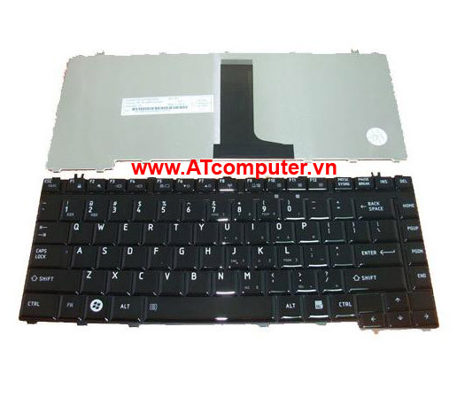 Bàn phím TOSHIBA Satellite C600D Series. Part: 9Z.N4VSQ.001, AETE2U00020-US, MP-09M73US6920, AETE2U00110-US, MP-09M73US6930, 6037B0048202, 9Z.N4VSV.001, 6037B0048102