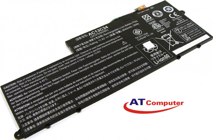 PIN Acer Aspire E3-111, E3-112, V5-122, V5-122P, V5-132, V5-132P, 4Cell, Oem, Part: AC13C34, KT.00303.005, MS2377