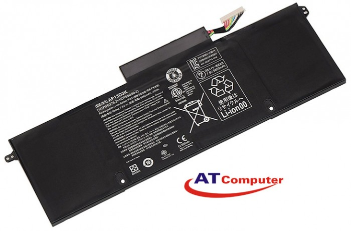 PIN ACER Aspire S3-392, S3-392G, 4Cell, Original, Part: AP13D3K(1ICP5/60/80-2), AP13D3K(1ICP6/60/78-2), AP13D3K