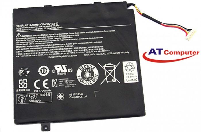 PIN Acer Aspire switch 10, WS5, 2Cell, Oem, Part: AP14A4M, AP14A8M