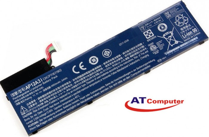 PIN ACER Aspire M3, M3-581. 6Cell, Oem, Part: 3ICP7/67/90, BT.00304.011, KT.00303.002