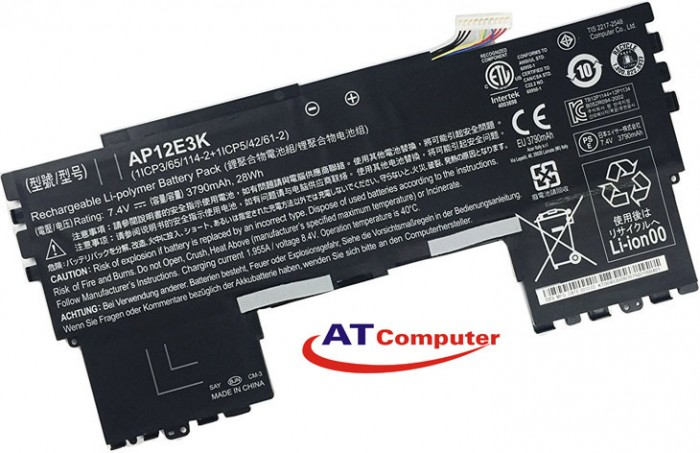 PIN Acer Aspire S7-191, S7 11 , 2Cell, Original, Part: 1ICP3/65/114, AP12E3K