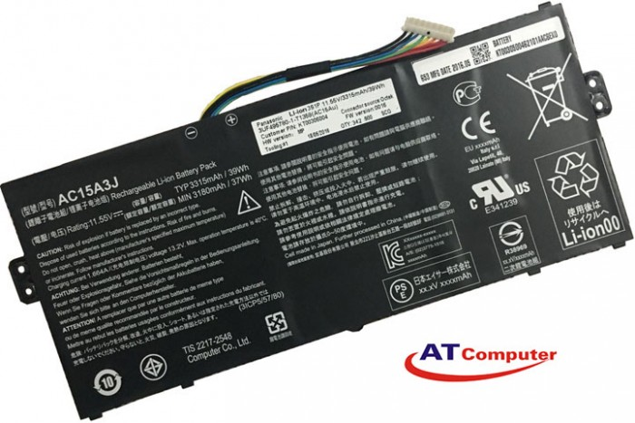PIN Acer Chromebook 11 C735, C738T, CB3-131 , 3Cell, Original, Part: AC15A3J, AC15A8J