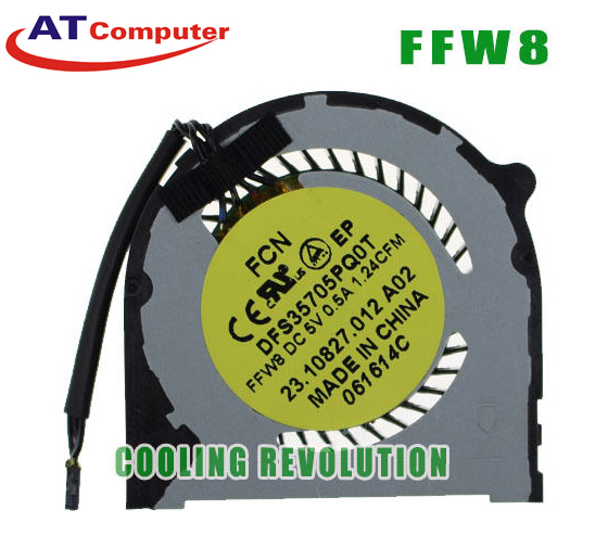 FAN CPU DELL Inspiron 14-7000, 14-7437, 7437, 7447. Part: DFS35705PQ0T, FFW8