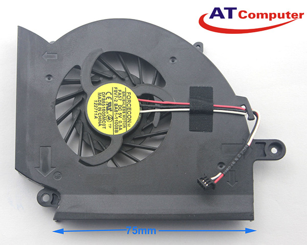 FAN CPU SAMSUNG RF510, RF511, RF710, RF712, RF711. Part: DFS851605MC0T, KSB0705HA, BA81-11008B