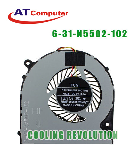 FAN CPU Clevo 6-31-N5502-102, Fh22. Part: FH22, DFS551205WQ0T