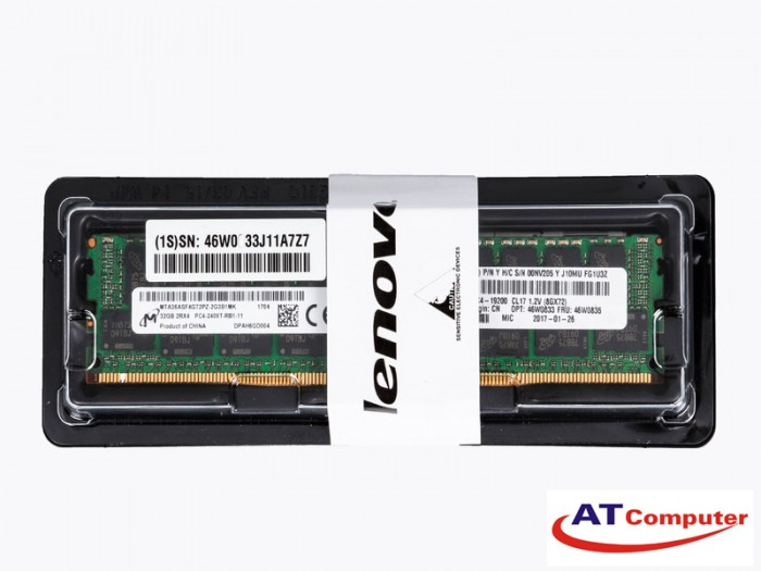 RAM IBM 32GB Quad Rank PC4-17000 DDR4 SDRAM LP RDIMM Memory Kit. Part: 46W0802