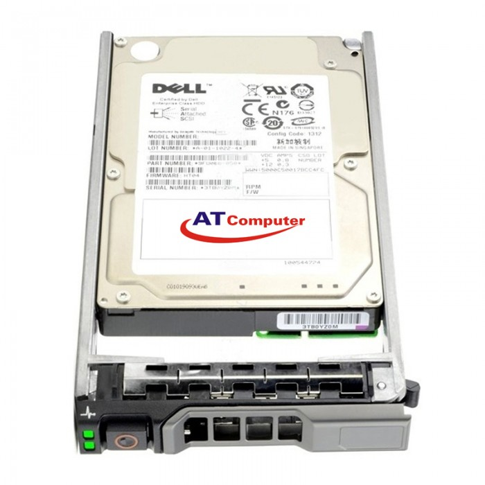 HDD DELL 600GB SAS 10K RPM 12Gbps 2.5''. Part: F0V7R, 400-AJPP