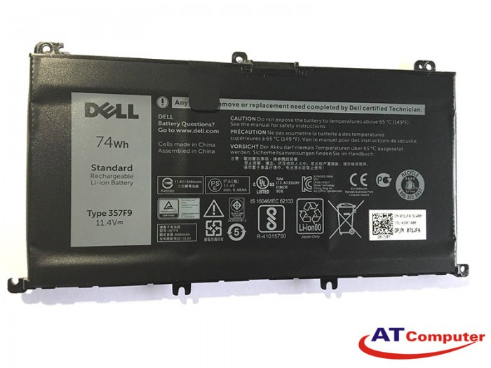 PIN Dell Inspiron 7557, 7559, 7566 7567, 7577, 7759, 6Cell, Oem, Part: 357F9, 71JF4