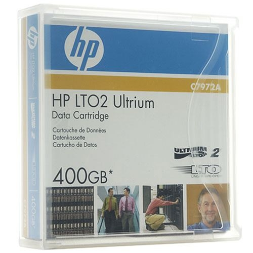 HP Ultrium LTO-2 200, 400GB Data Cartridge, Part: C7972A