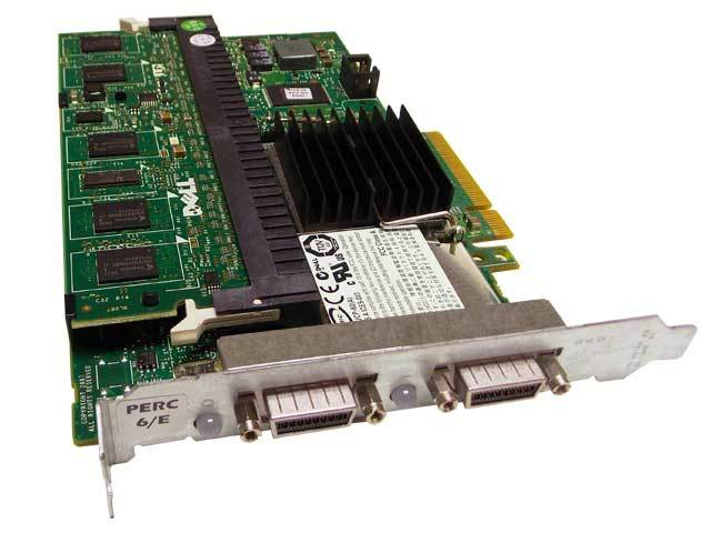 DELL PERC 6/E 512MB SAS External RAID Controller Part: FY374