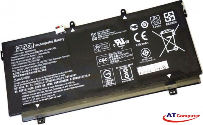 PIN HP Spectre x360 13-AC, 13-AC020CA, 13-AC028TU. 3Cell, Original. Part: SH03XL, TPN-Q178, HSTNN-LB7L