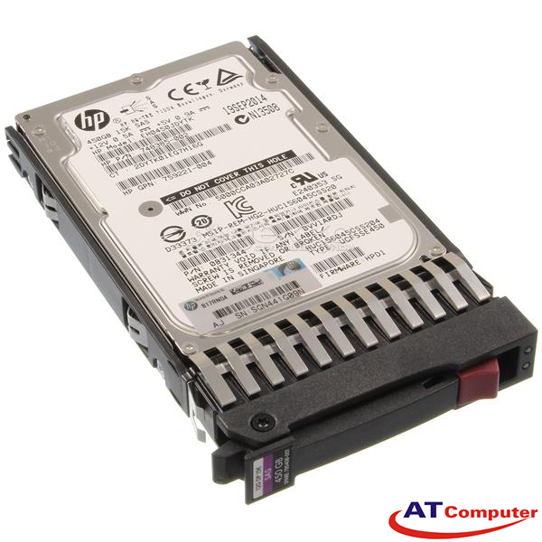 HP 450GB SAS 15K 12G SFF DP 2.5. Part: 785101-B21