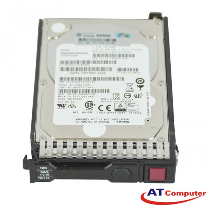 HP 1.2TB SAS 10K 6G SFF DP 2.5. Part: 718160-B21