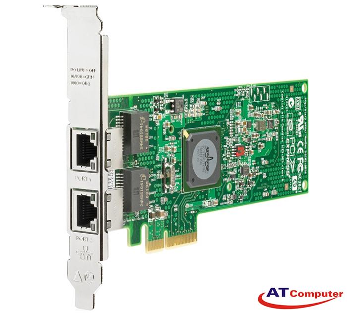 HP NC382T PCI Express Dual Port Multifunction Gigabit Server Adapter. Part: 458492-B21