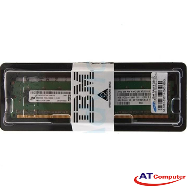 RAM IBM 4GB DDR3L-1600Mhz PC3L-12800 2Rx8 CL11 LP UDIMM ECC. Part: 00D5012