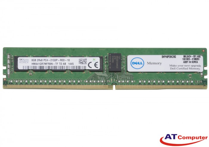 RAM DELL 8GB DDR4-2133MHz PC4-17000 CL19 2R X8 ECC. Part: A8058238