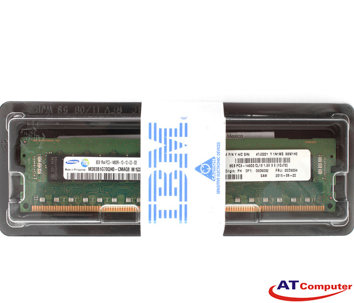 RAM IBM 8GB DDR3-1866Mhz PC3-14900 Registered ECC. Part: 00D5031
