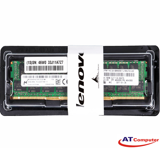 RAM IBM 8GB DDR4-2400MHz PC4-19200 CL17 LP RDIMM ECC. Part: 46W0821