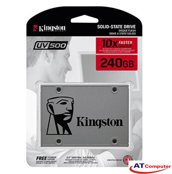 SSD Kingston SSDNow UV500 240GB Sata3 2.5 (Doc 520MB/s, Ghi 500MB/s)