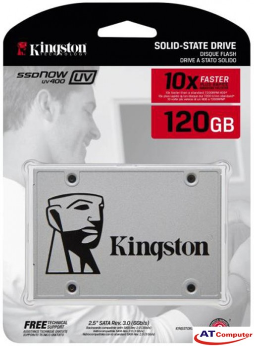 SSD Kingston SSDNow UV400 120GB Sata3 2.5 (Doc 500MB/s, Ghi 350MB/s) - SUV400S37/120G