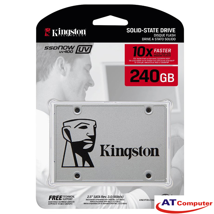 SSD Kingston SSDNow UV400 240GB Sata3 2.5 (Doc 550MB/s, Ghi 490MB/s) - SUV400S37/120G
