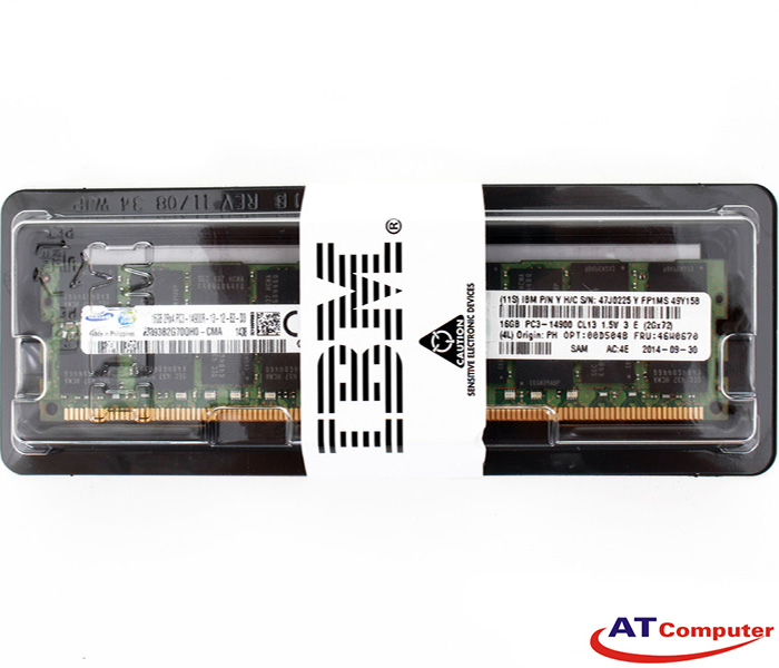 RAM IBM 16GB DDR3-1866Mhz PC3-14900 Registered ECC VLP. Part: 47J0236