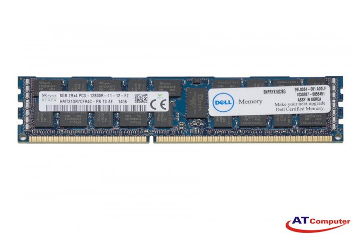 RAM DELL 8GB DDR3-1600Mhz PC3-12800 LV ECC. Part: RYK18, 0RYK18
