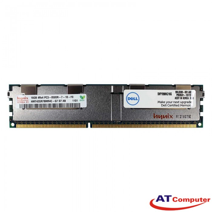 RAM DELL 16GB DDR3-1066Mhz PC3-8500 Registered ECC. Part: Y898N