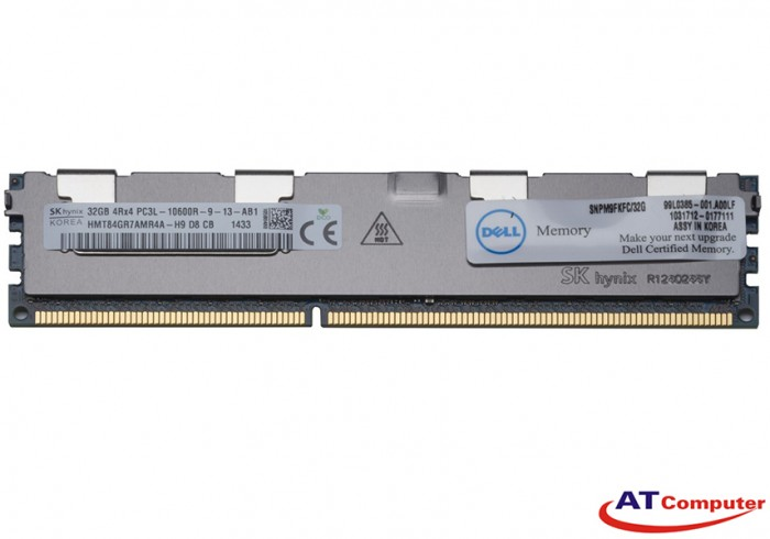 RAM DELL 32GB DDR3L-1333Mhz PC3L-10600R Registered ECC. Part: M9FKF, M39YF