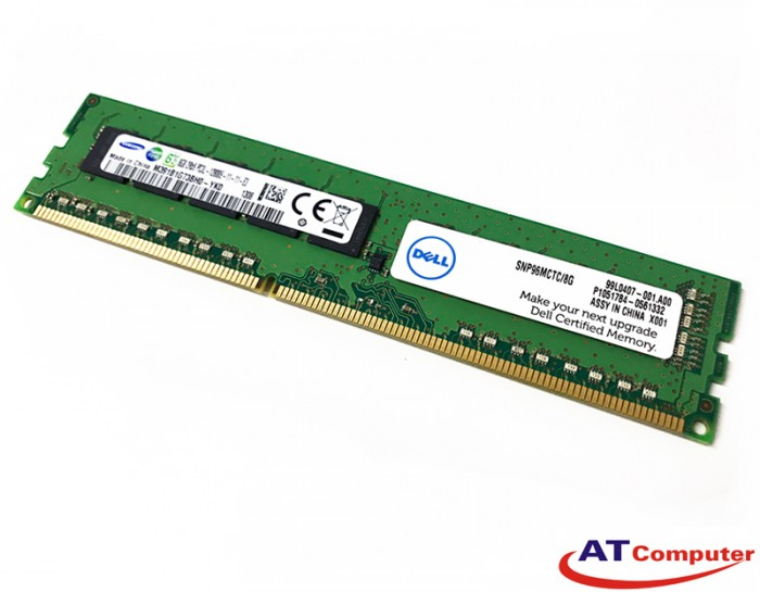 RAM DELL 4GB DDR3L-1333Mhz PC3L-10600R ECC. Part: D1TMC, 9J5WF, MFTJT