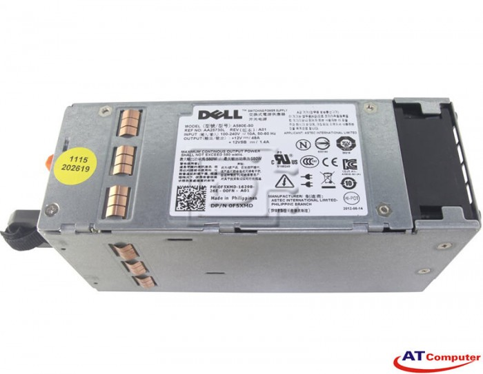 DELL 580W Power Supply Hot Swap, For DELL PowerEdge T410, Part: F5XMD, 0F5XMD