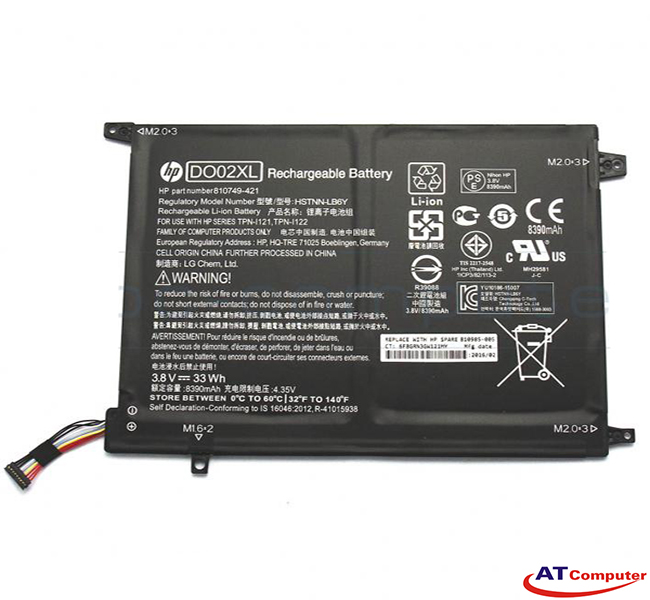 PIN HP Pavilion X2 10-N, X2 10-N000, X2 10-N100, X2 10-N200. 2Cell, Original. Part: DO02XL, HSTNN-LB6Y, TPN-I121