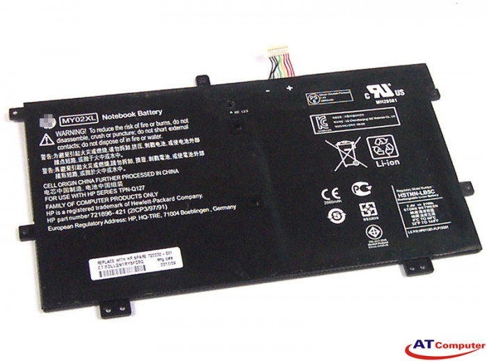 PIN HP Pavilion X2 11-H, X2 11-H000, X2 11-H000EO, X2 11-H000EW. 2Cell, Original. Part: MY02XL, HSTNN-LB5C