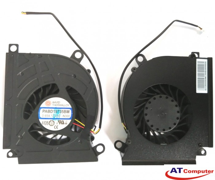 FAN CPU MSI GX660, GX680, GX780, MS-16F1, MS-16F2. Part: PABD19735BM-N153, PABD19735BM-N273