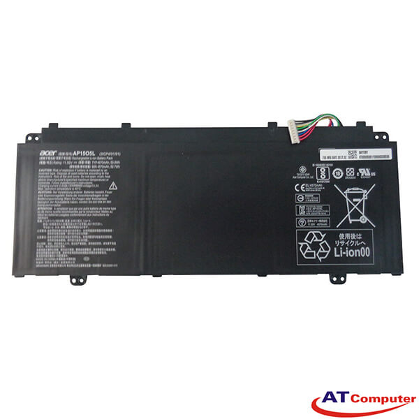 Pin Acer Swift 5 SF514-51, Acer Aspire S5-371, S5-371T, 4Cell, Original, Part: KT.00305.001, AP15O5L