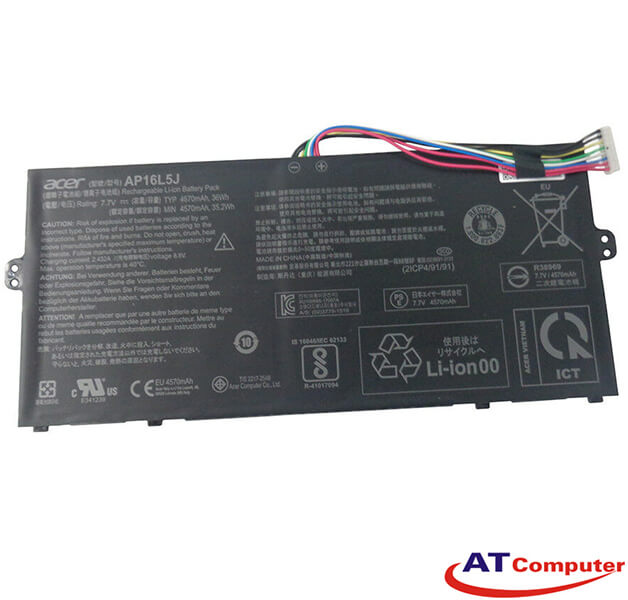 Pin Acer Swift 5 SF514-52, SF514-52T, SF514-53, SF514-53T, Spin 1 SP111, 4Cell, Oem, Part: AP16L5J, 2ICP4/91/91