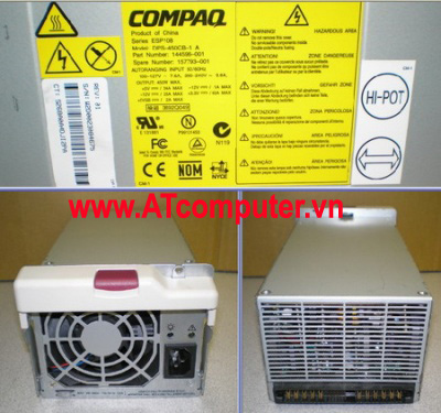 HP 450W Power Supply Hot Swap, For HP Proliant ML530, Part: 128286-001, 144579-001