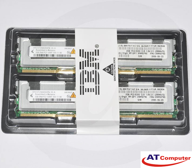 RAM IBM 4GB DDR2-667Mhz PC2-5300 (2x2GB) CL4 FB-DIMM ECC. part: 41Y2771