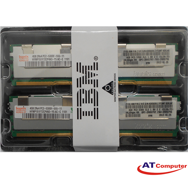 RAM IBM 8GB DDR2-667Mhz PC2-5300 (2x4GB) CL5 FB-DIMM ECC. part: 41Y2768