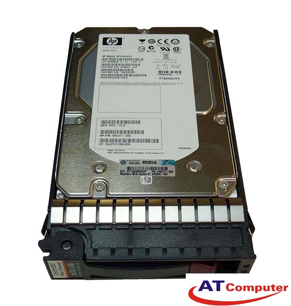 HP 600Gb FC 15K 3.5. Part: AP751A