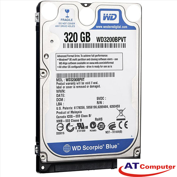 HDD WESTERN 320GB SATA 5400RPM, 8Mb Cache 2.5''