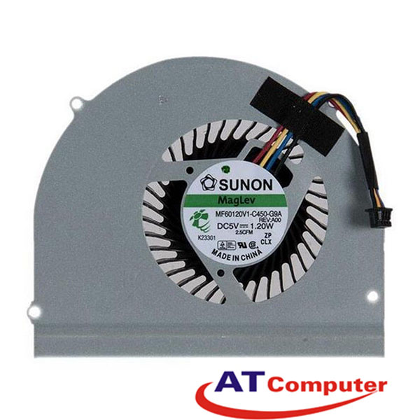 FAN CPU DELL Latitude E6530 Series. Part: 02MK5J, 2MK5J, MF60120V1-C450-G9A